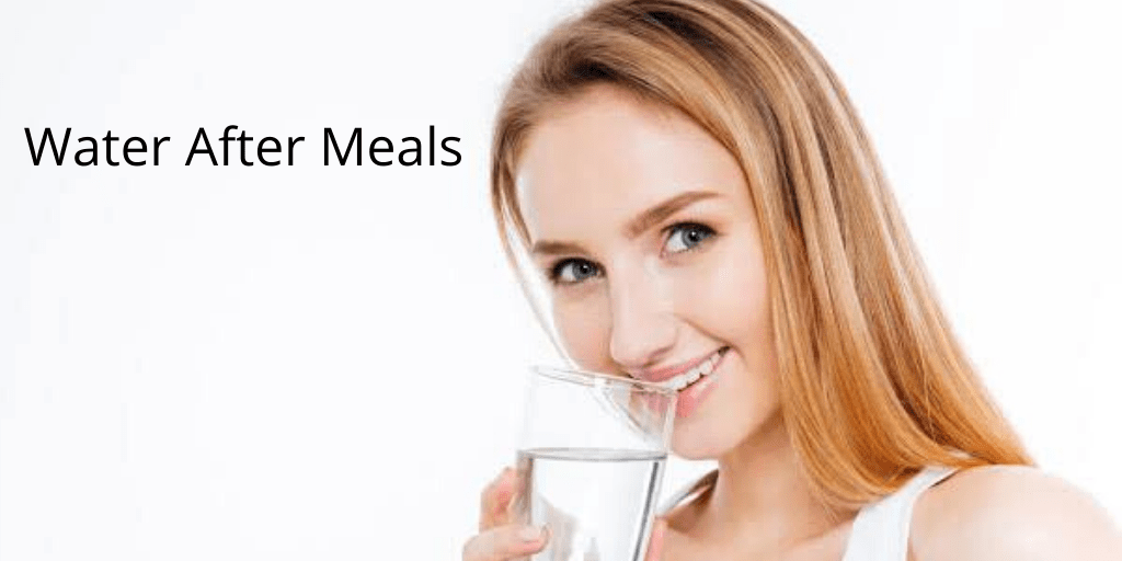 water after meals